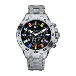 NAUTICA Armbanduhr NST Chrono Flags Black and Steel